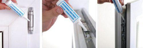 смазывание пластиковым флаконом